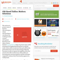 CSS-Based Tables: Modern Solutions
