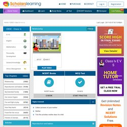 NCERT Solutions for Class 4 EVS Online Free Study text book video syllabus Animated
