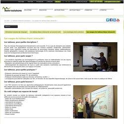 Motiv'Solutions - Les usages du tableau blanc interactif
