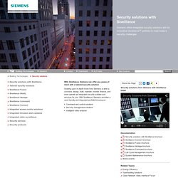 Electronic security solutions - Building Technologies - Siemens