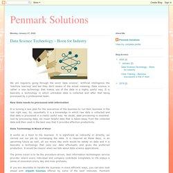 Penmark Solutions Offer Data Science Technology Online!