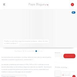 2 solutions pour éditer les pages d'un template Wordpress