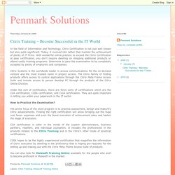 Get the Citrix Training With Penmark Solutions!