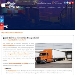Quality Solutions for Business Transportation