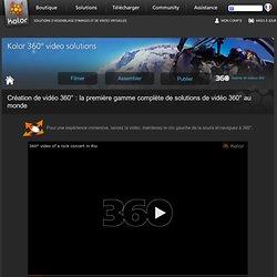 Eyes: lecteur vidéo 360° en HTML5 - Afficher et lire des vidéos 360° sur iPad et ordinateur (avec WebGL) - Kolor | Kolor Eyes