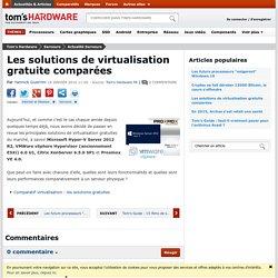 Les solutions de virtualisation gratuite comparées