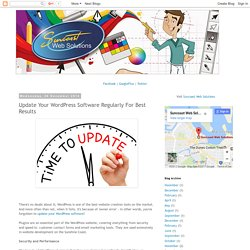 Update Your WordPress Software Regularly For Best Results