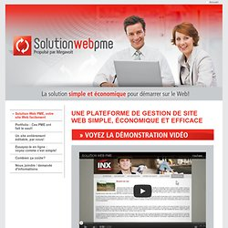 Essayez Solution Web PME maintenant - le CMS le plus simple à utiliser