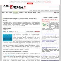Soluzione italiana per la produzione di energia dalle onde