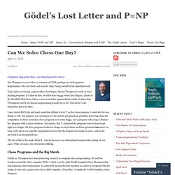 Gödel's Lost Letter and P=NP