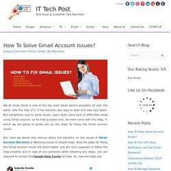 How To Solve Gmail Account Issues? - Email
