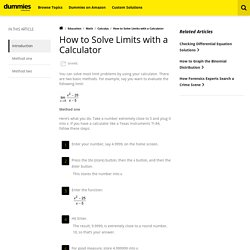 How to Solve Limits with a Calculator