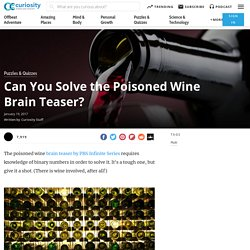 Can You Solve the Poisoned Wine Brain Teaser?