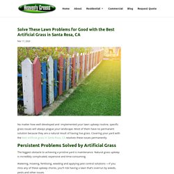 Solve Lawn Problems Using the Best Artificial Grass in Santa Rosa, CA