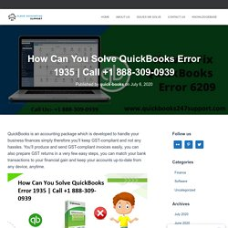 How Can You Solve QuickBooks Error 1935