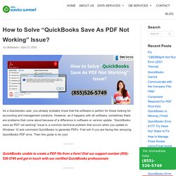 """How to Solve """"QuickBooks Save As PDF Not Working"""" Issue?"""