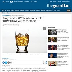 Can you solve it? The whisky puzzle that will have you on the rocks