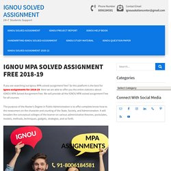 IGNOU MPA SOLVED ASSIGNMENT FREE