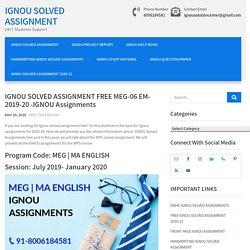 IGNOU Solved Assignment Free MEG MA EM 2019-20-Ignou Assignments