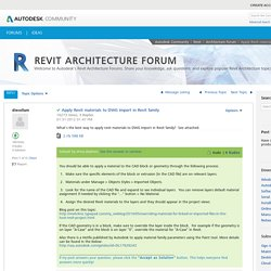 Solved: Apply Revit materials to DWG import in Revit family