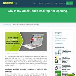 (Solved) QuickBooks Desktop Doesn't Start or Won't open