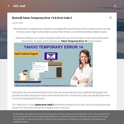 [Solved] Yahoo Temporary Error 14 & Error Code 2