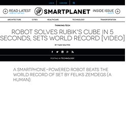 Robot solves Rubik's cube in 5 seconds, sets world record [video]
