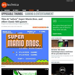 """This AI """"solves"""" Super Mario Bros. and other classic NES games"""