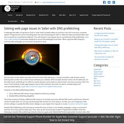 Solving web page issues in Safari with DNS prefetching