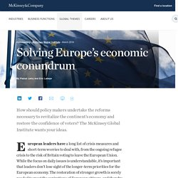 Solving Europe's economic conundrum