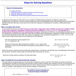 Solving Equations-steps