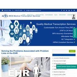 Solving the Problems Associated with Problem Lists in the EHR