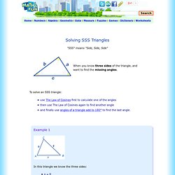 Solving SSS Triangles