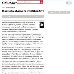 Alexander Solzhenitsyn Biography