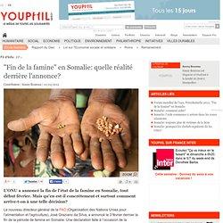 """""""Fin de la famine"""" en Somalie: quelle réalité derrière l'annonce?"""