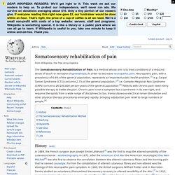 Somatosensory rehabilitation of pain