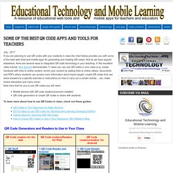 Some of The Best QR Code Apps and Tools for Teachers