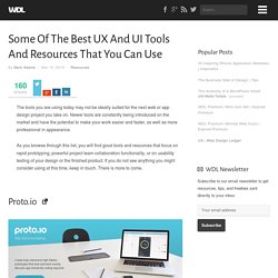 Some Of The Best UX And UI Tools And Resources That You Can Use