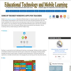 Some of The Best Windows Apps for Teachers