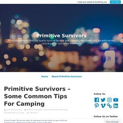 Some Common Tips For Camping