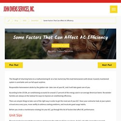 Some Factors That Can Affect AC Efficiency