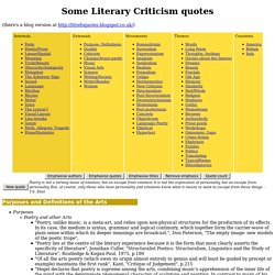 Some Literary Criticism quotes