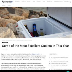 Some of the Most Excellent Coolers in This Year