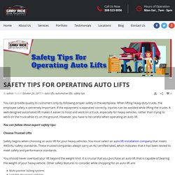 How You Can Use Auto Lifts Safely?