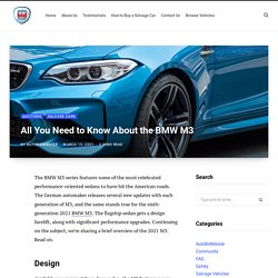 Some of the Significant Changes Made in BMW M3