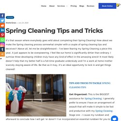 Some of DIY Spring Cleaning Tips and Tricks for Your Home