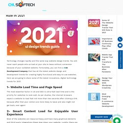 Some of the Website Design Trends That Will Rule in 2021
