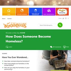 How Does Someone Become Homeless?
