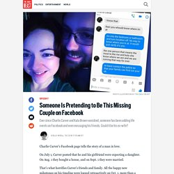 Someone Is Pretending to Be This Missing Couple on Facebook