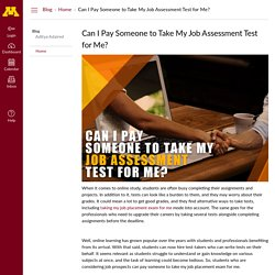 Can I Pay Someone to Take My Job Assessment Test for Me?: Home: Blog